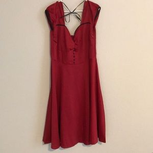 Dresses & Skirts - Lindy Bop Red vintage style swing dress